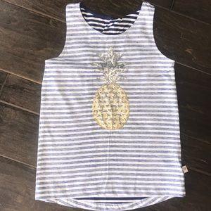 NWT Sequin pineapple tank